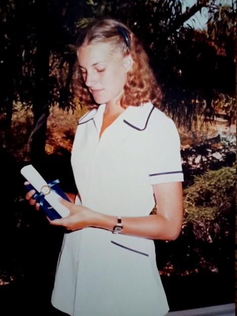 graduating as a dental therapist 1981