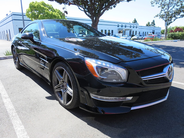 Mercedes-Benz SL63 AMG repaired & painted at Almost Everything Auto Body