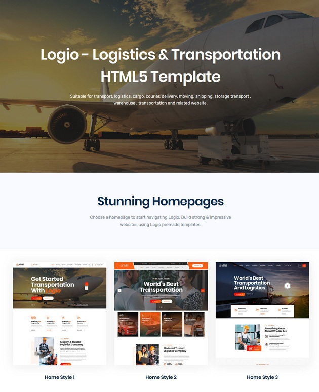 Logistics & Transportation Template