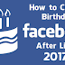 Change Birthday On Facebook