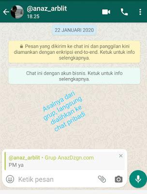 Cara Membalas Pesan Secara Pribadi Di Grup WhatsApp (Fitur Baru)