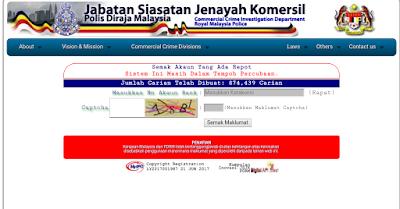 Semakan Status Scammer Secara Online