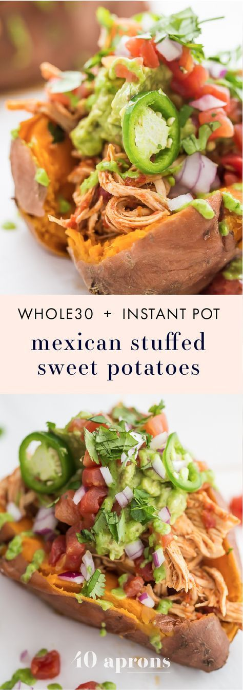 ★★★★☆ 7561 ratings | Mexican Chicken Stuffed Sweet Potatoes (Whole30, Paleo, Instant Pot) #HEALTHYFOOD #EASYRECIPES #DINNER #LAUCH #DELICIOUS #EASY #HOLIDAYS #RECIPE #Mexican #Chicken #Stuffed #Sweet #Potatoes #Whole30 #Paleo #Instant Pot