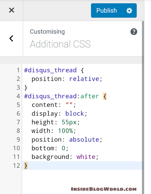 additional CSS WordPress