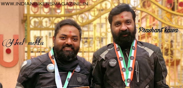 """Two Motorcyclist Set A Record For Completing """"Longest Spiritual Ride In India""""  