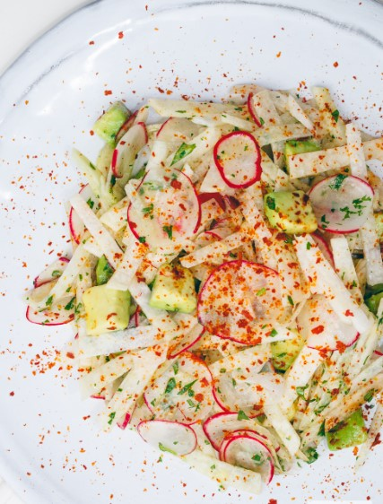 Jicama Avocado and Radish Salad with Lime Vinaigrette