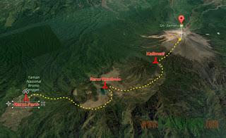 Easy Access to Climb Mount Semeru