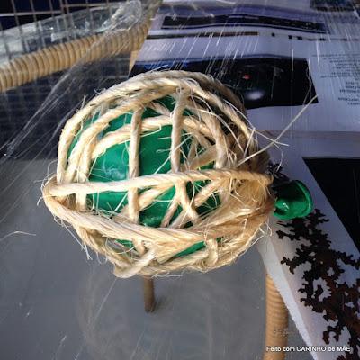 PAP bola de sisal. Decoração de natal