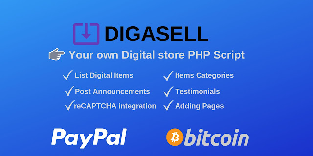 Download DigaSell - Digital store PHP Script
