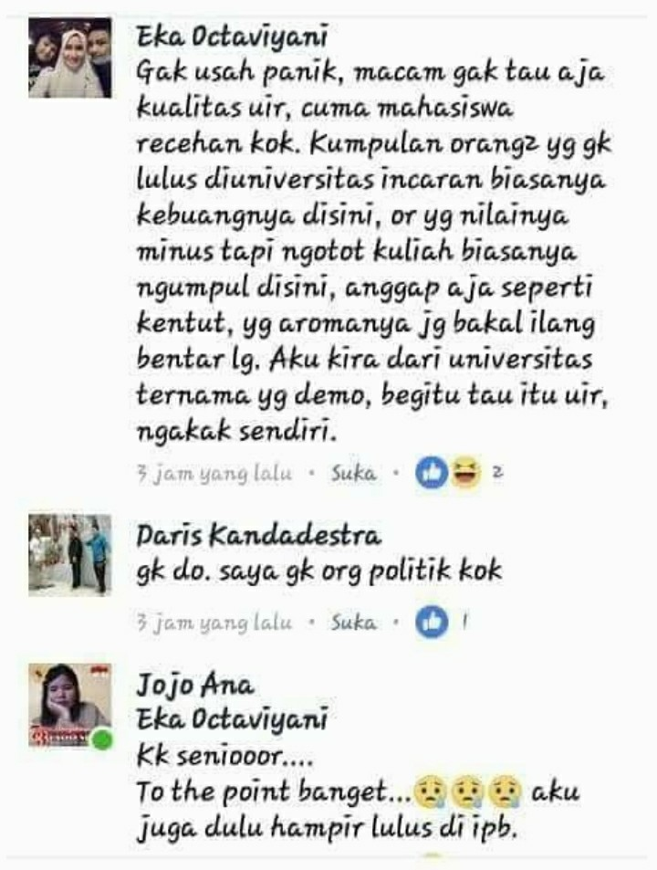 Respons Demo Mahasiswa, Netizen Ini Hina Universitas Islam Riau