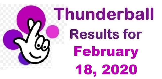 Thunderball Results for Tuesday, February 18, 2020