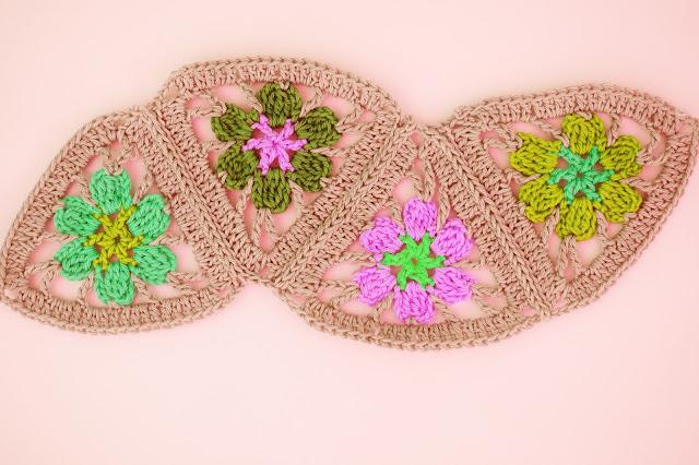 5 - Crochet Imagen Puntada de triangulos flores a crochet y ganchillo por Majovel Crochet