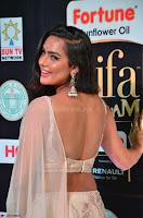 Prajna Actress in backless Cream Choli and transparent saree at IIFA Utsavam Awards 2017 0020.JPG