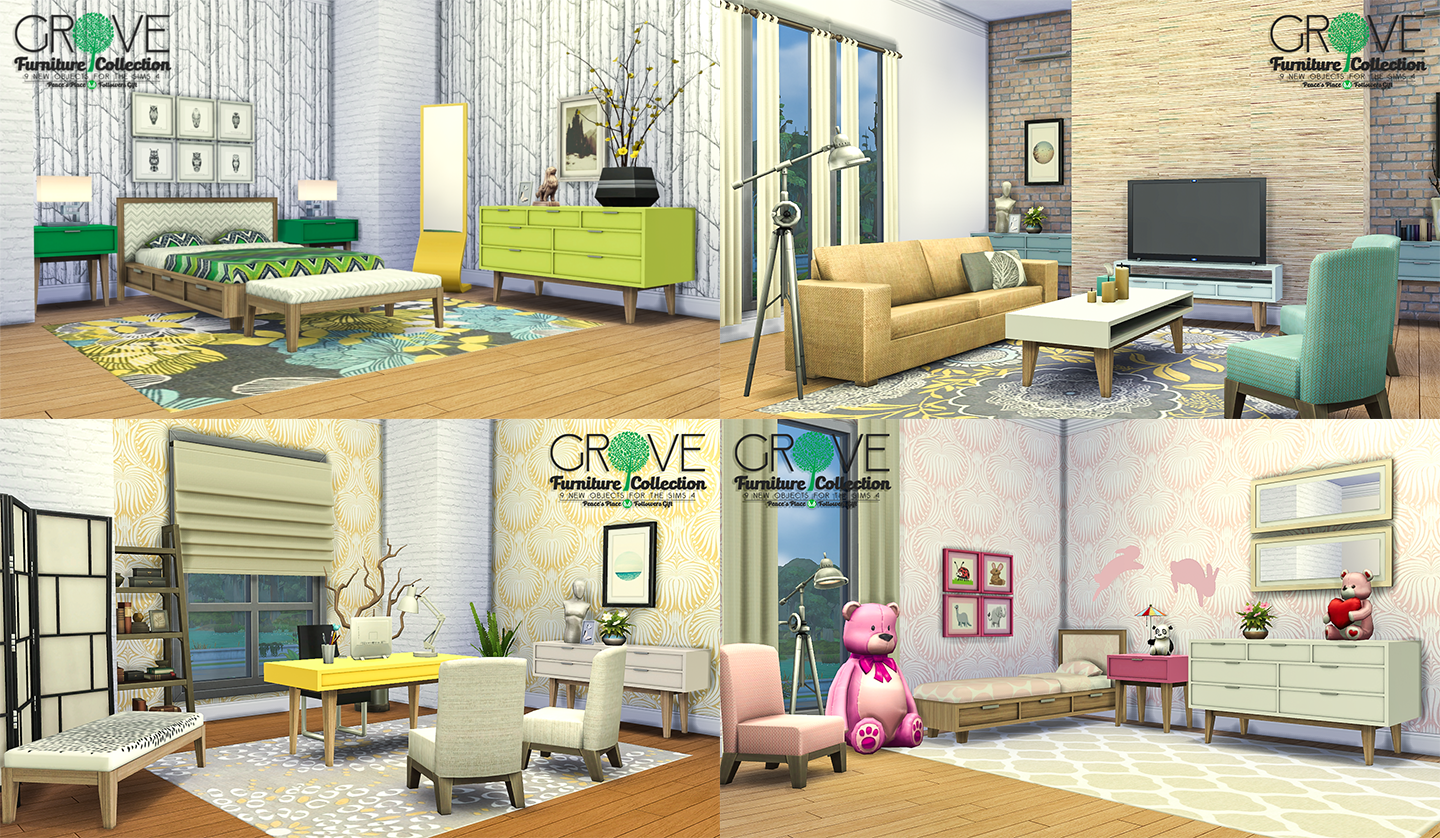 Simsational Designs Updated Grove Furniture Collection
