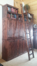 Library Bookshelves with Ladder