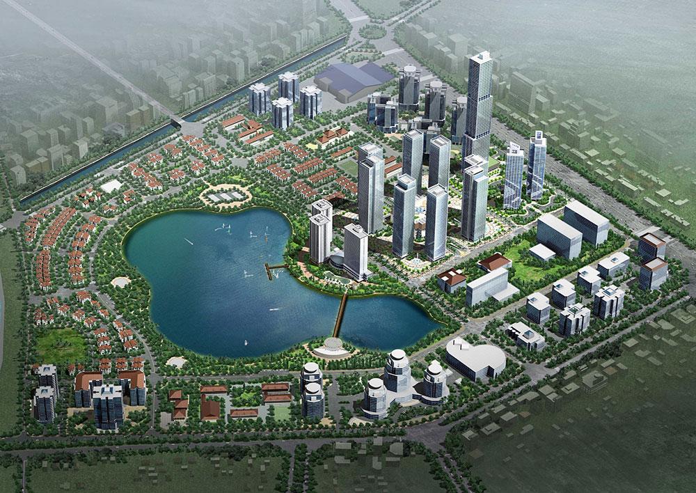 Hồ điều hoà tại chung cư An Bình City