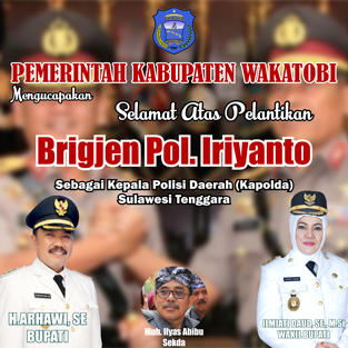 Iklan Pelantikan Kapolda – Pemda Wakatobi