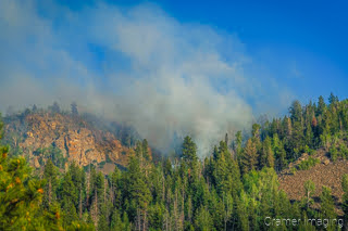 Cramer Imaging's landscape photograph of wildfire smoke near Panguitch Lake Utah