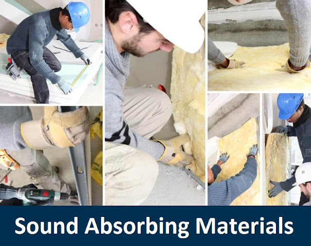 list of sound absorbing materials