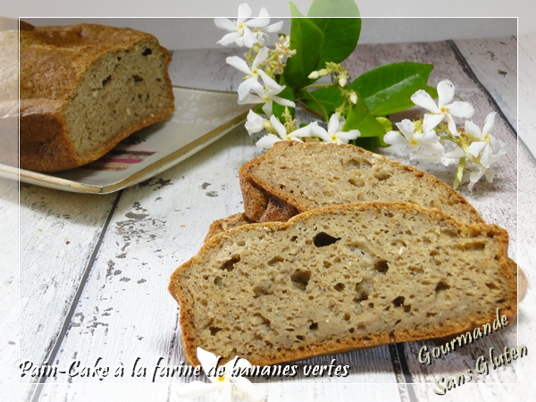 Pain cake à la farine de bananes vertes sans gluten