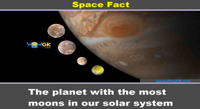 Which planet has the highest number of Moons?