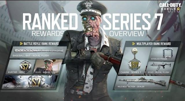COD Mobile Season 11 and Series 7 Ranker rewards leaks