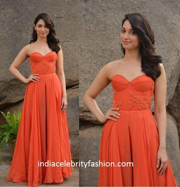 Tamannaah Bhatia in Sailex Gown for oopiri promotions