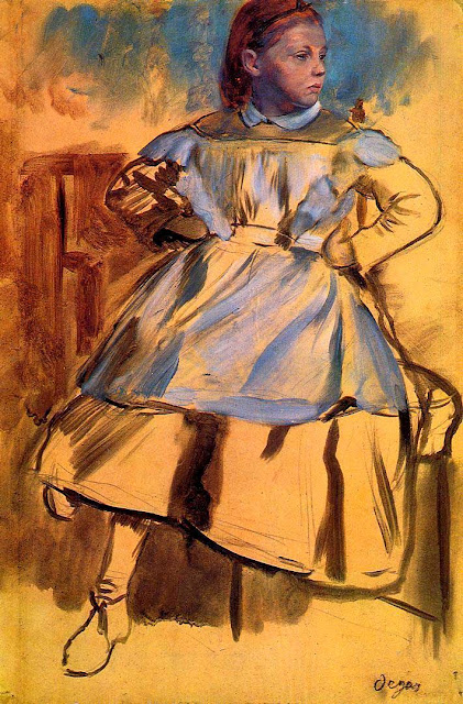 Эдгар Дега - Портрет Джулии Беллелли (1859-1860)