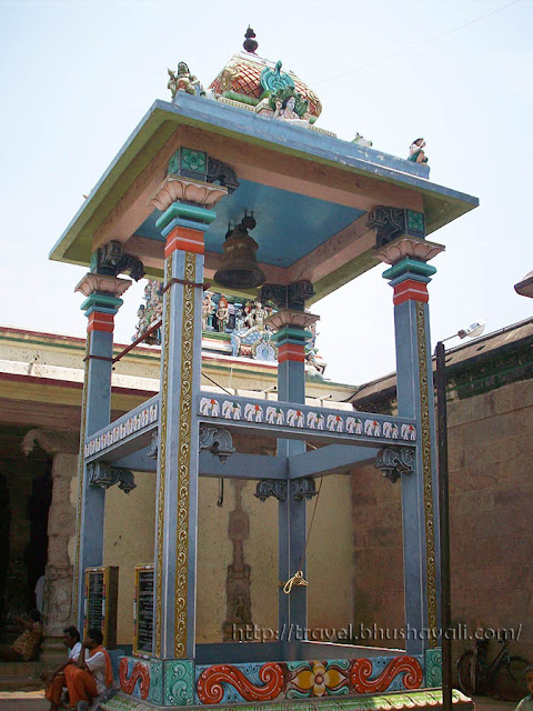 Bell tower of Kodumudi Magudeswarar and Veeranarayana Perumal temples.