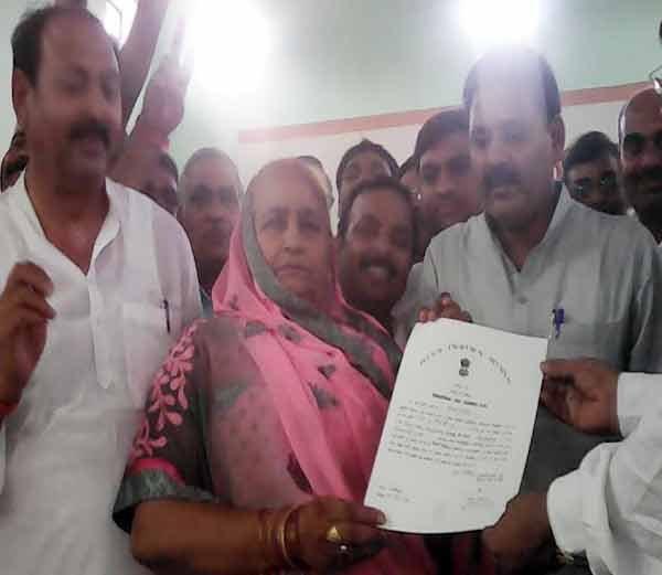 उपचुनाव में सपा प्रत्याशी किस्मती देवी ने 22 हजार 92 वोटों से जीत हासिल की