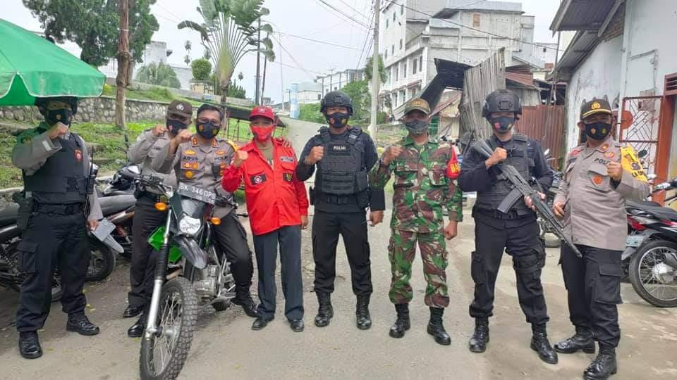Ormas PBB Membantu Aparat TNI, Polri Dalam Rangka Pengamanan Ibadah Paskah di Kota Tebing Tinggi