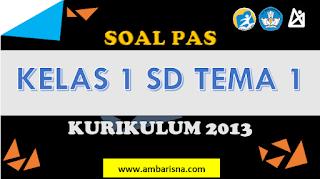 Download Soal PAS Ganjil Kelas 1 SD Tema 1