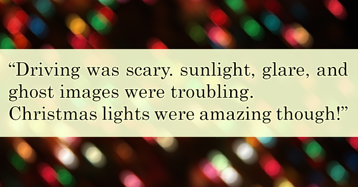 Sunlight, Glare, Ghost Images and Amazing Christmas Lights!