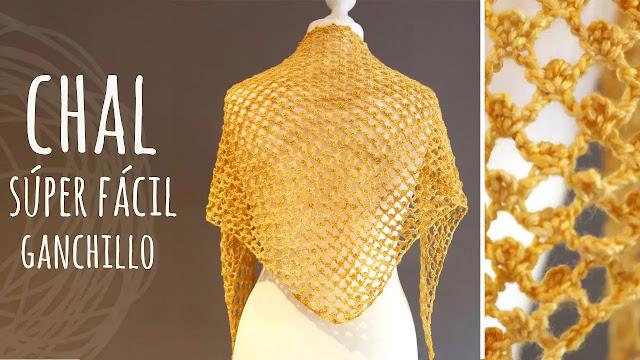 Chal Fácil de Tejer a Crochet