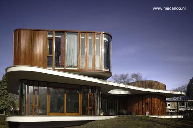 Casa moderna diseño orgánico vanguardista en Holanda