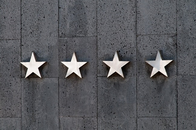 Stars on the blank wall.