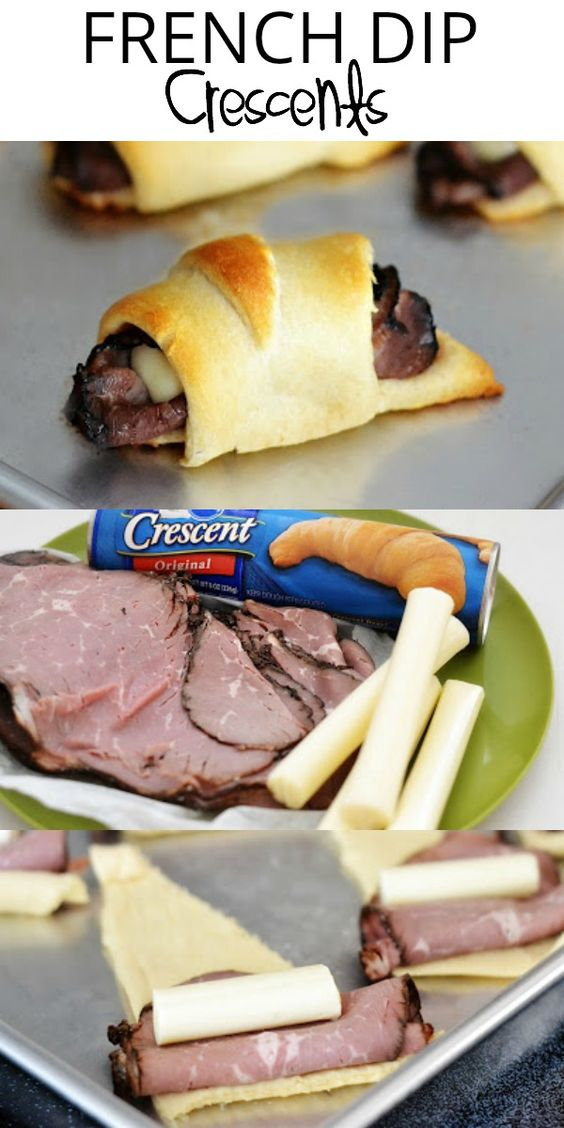 French Dip Crescents #recipes #dinnerrecipes #dinnerideas #newfoodideas #newfoodideasfordinner #food #foodporn #healthy #yummy #instafood #foodie #delicious #dinner #breakfast #dessert #yum #lunch #vegan #cake #eatclean #homemade #diet #healthyfood #cleaneating #foodstagram