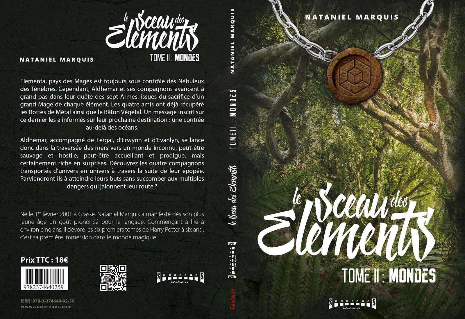 Livre Fantasy Le Sceau Des Elements Couverture Du Tome Ii