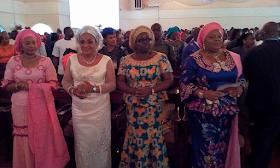 2ABC - Bayelsa Governor, Seriake Dickson and wife, Rachael dedicate their quadruplets in Church (photos)