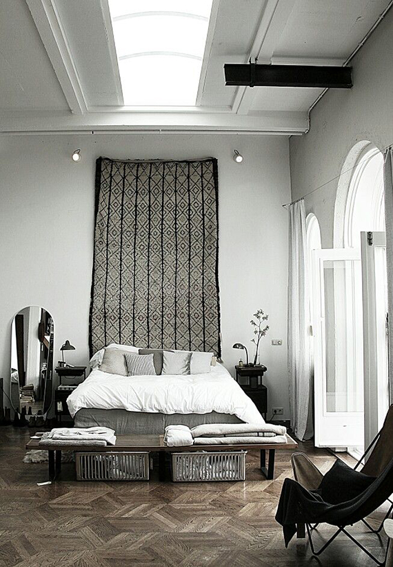 3 high impact things to hang over your headboard plus a for Hang bed from wall
