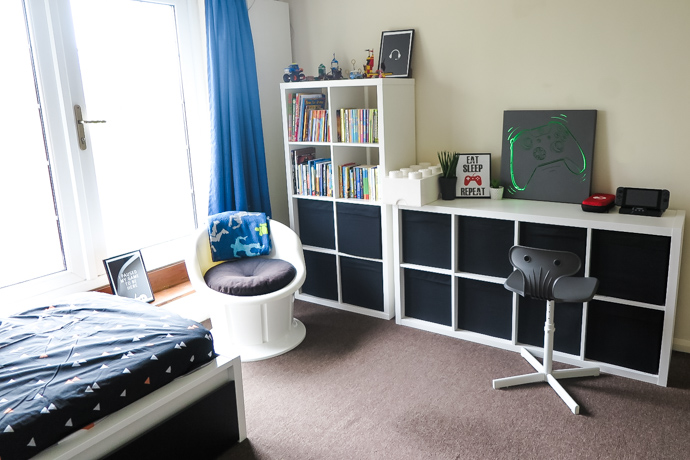 gaming themed kids bedroom, gaming room for children