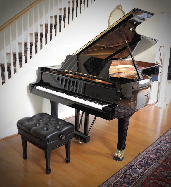 Yamaha CFIIIS 9-foot grand piano in customers home