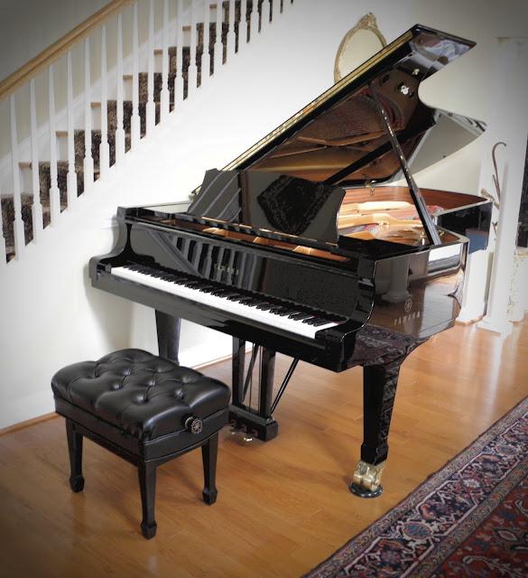 Yamaha CFIIIS 9-foot grand piano in customers home