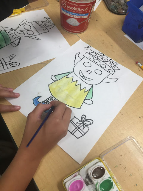 christmas art project  for kids