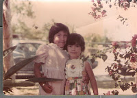Author and her sister as children