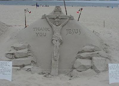 Jesus Sand Art
