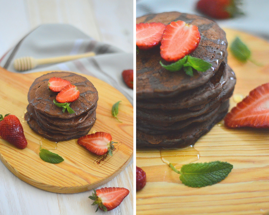 Panquecas Vegan de Chocolate