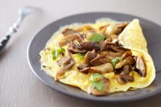 receta de omellete champiñones