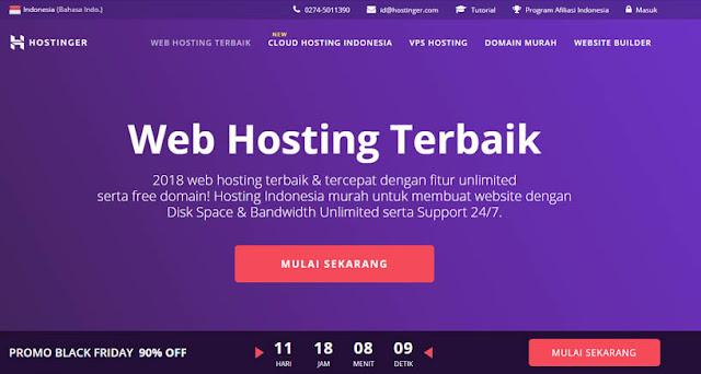 Hostinger - Daftar Web Hosting Terbaik Di Indonesia 2018