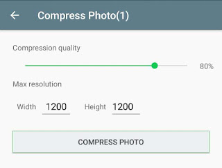 Choose compression quality for your image